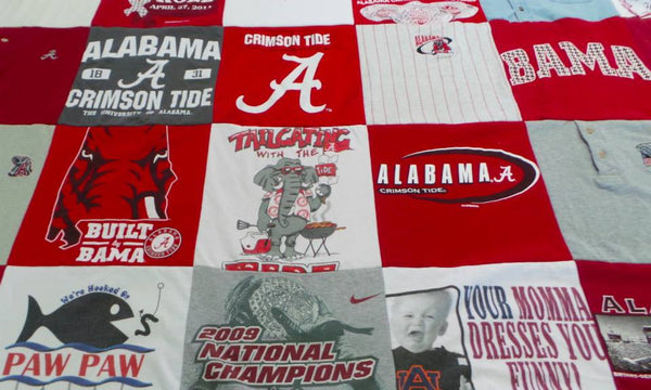Alabama t-shirt quilt blanket from Project Repat