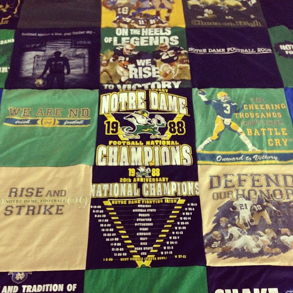 Notre Dame T Shirt Quilt Project Repat T Shirt Quilts