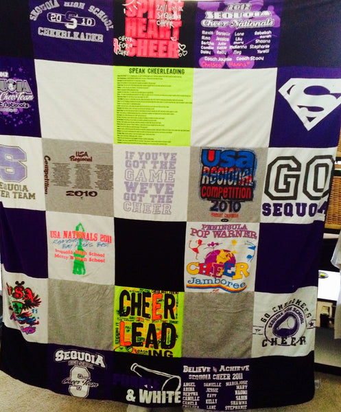 cheerleading t shirt quilt