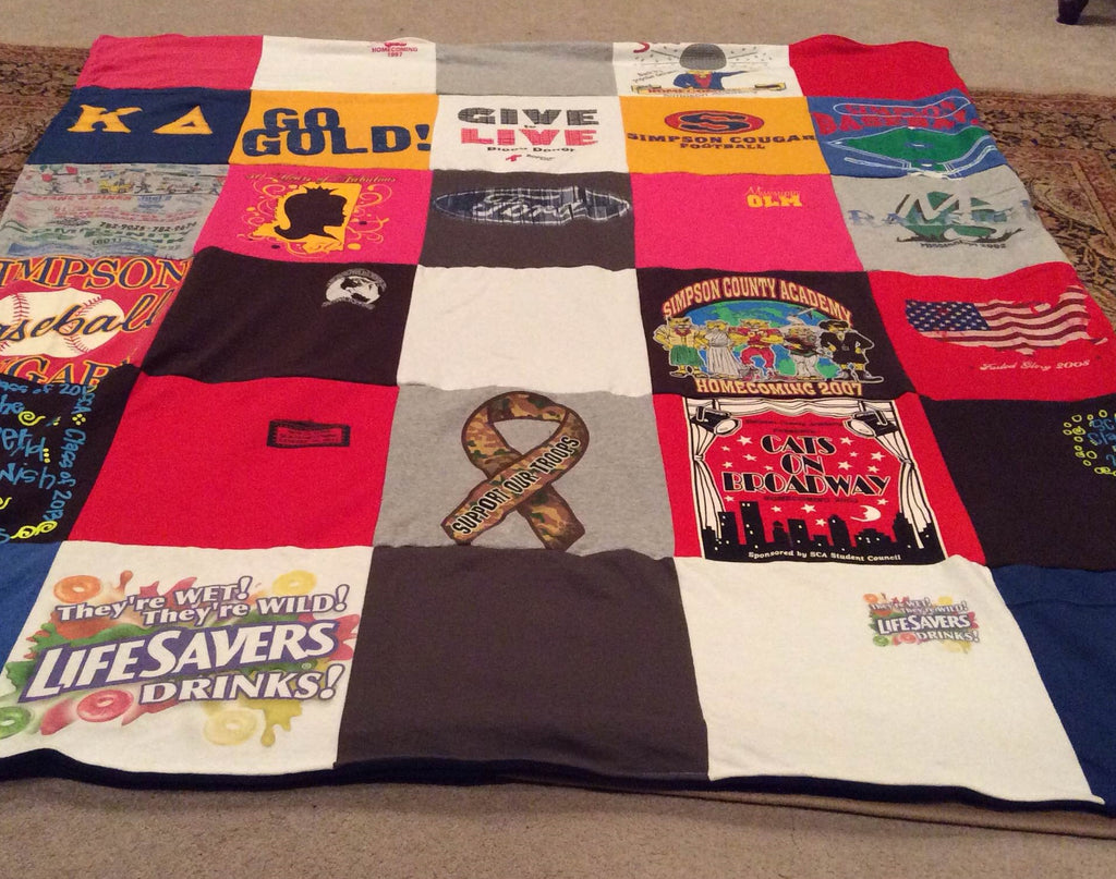 tshirt quilt from Project Repat