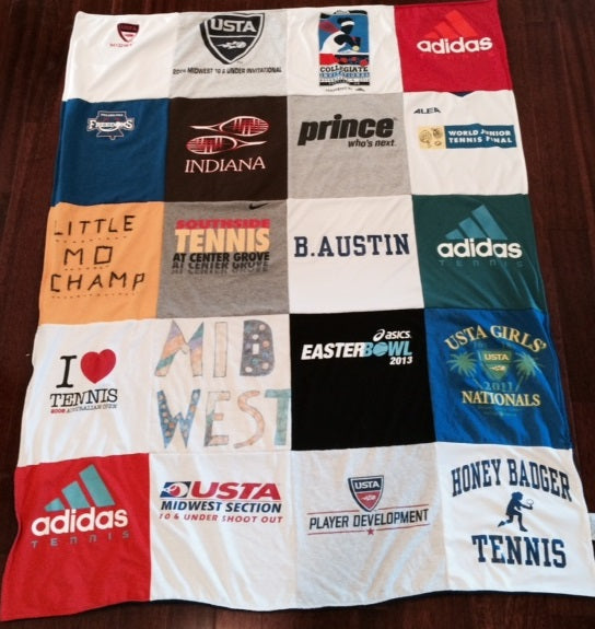 tennis t shirt quilt blanket from Project Repat
