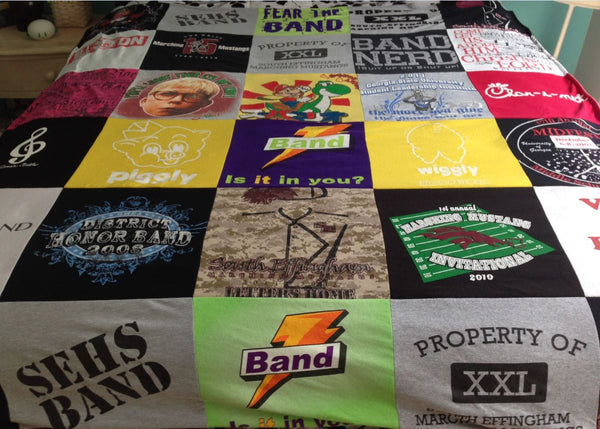 Memory Quilt from Band Tees