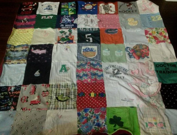 A Baby Clothes Quilt from Project Repat