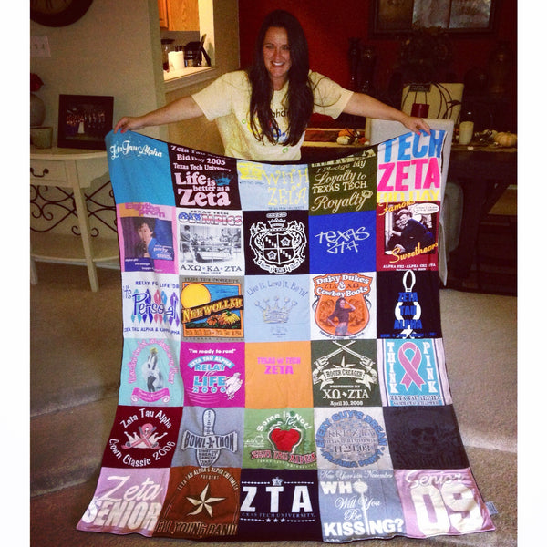 College Memories in the form of a t-shirt quilt | Project Repat T ... : repat quilts - Adamdwight.com