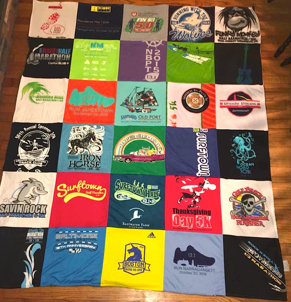 What To Do With Old Race T Shirts Turn Them Into A T Shirt Quilt