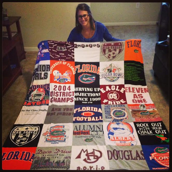Florida Gators t-shirt quilt | Project Repat T Shirt Quilts : repat quilts - Adamdwight.com
