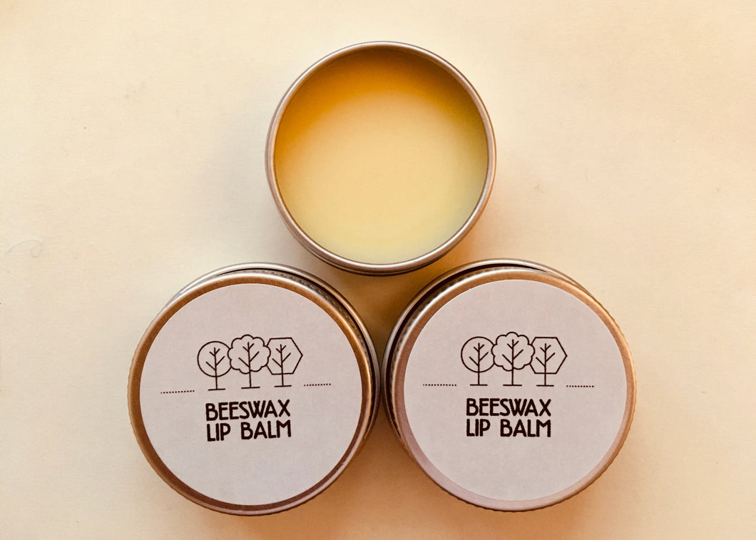 3 x Beeswax Lip Balm 15ml