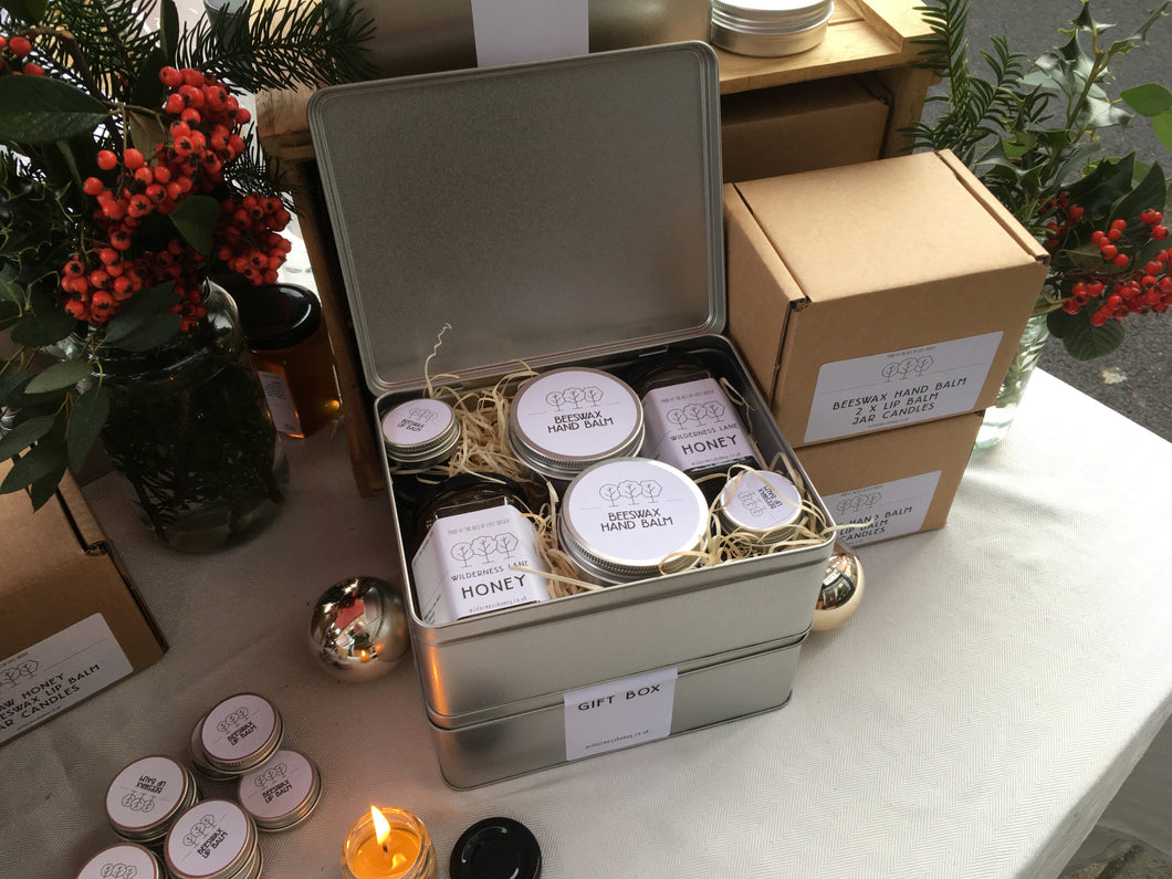 Honey, Balms and Candles Gift Box