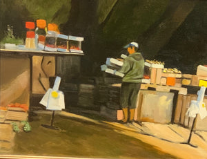 "Fruit Vendor - 11""x14"""