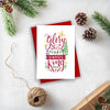 Christian Christmas Card Pack | Newborn King 2019 | Preditos