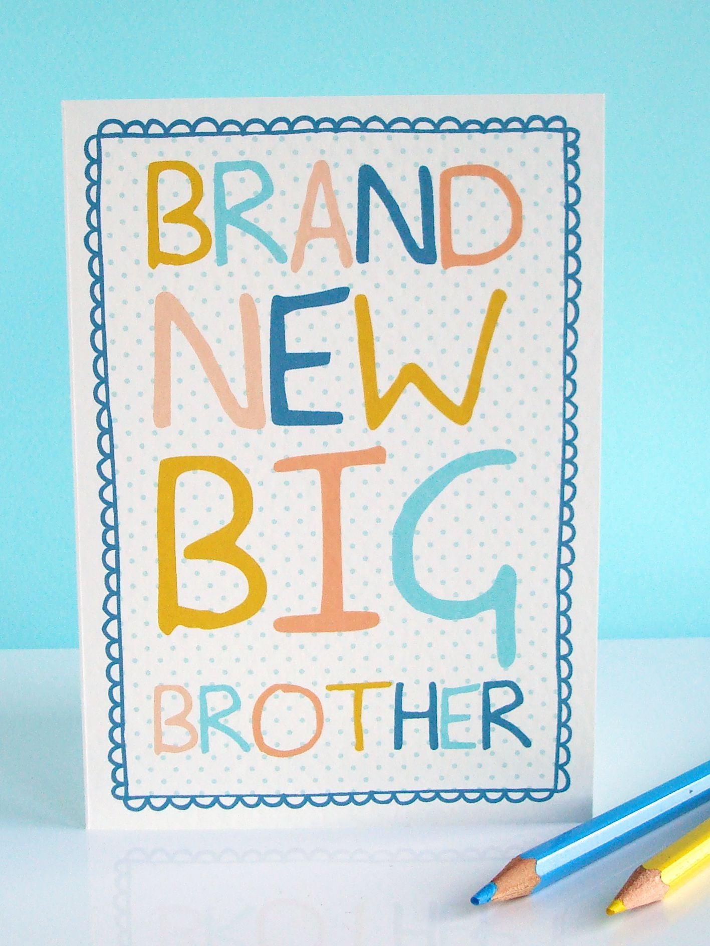 New Baby Card - Brand New Big Brother - Preditos-5501