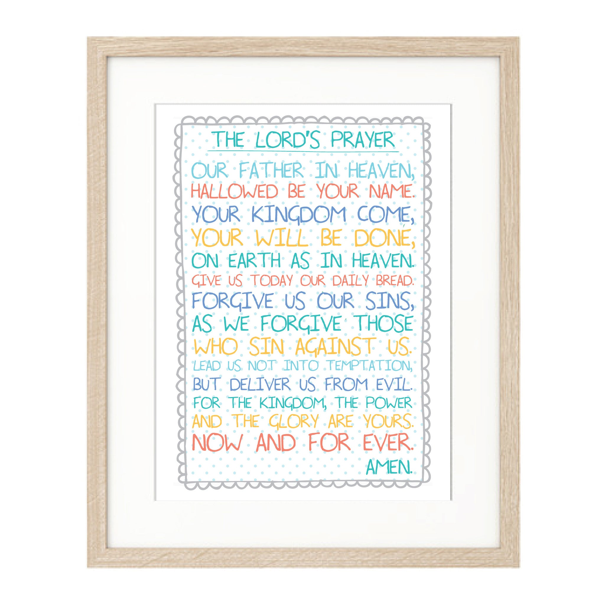 image relating to The Lord's Prayer Printable identified as The Lords Prayer print