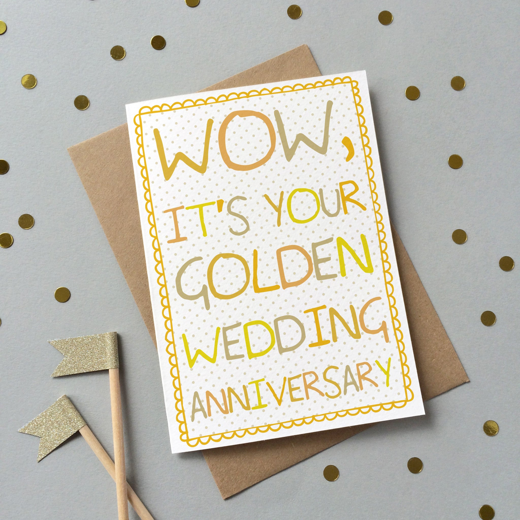 golden wedding anniversary card preditos