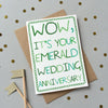 Emerald Wedding anniversary card