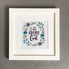 'Put your hope in God' (leaves) - Framed Print