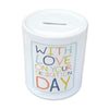 Dedication Ceramic Money Jar