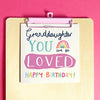 Preditos Oh Happy Day Birthday Granddaughter Card