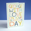 Rainbow Doodle 'Dedication' Card (personalised)