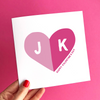 Personalised Initials Valentine's card