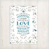 'I will sing of your love' greeting card