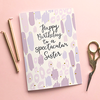 Christian Birthday Card - Spectacular Sister - She Is - Preditos