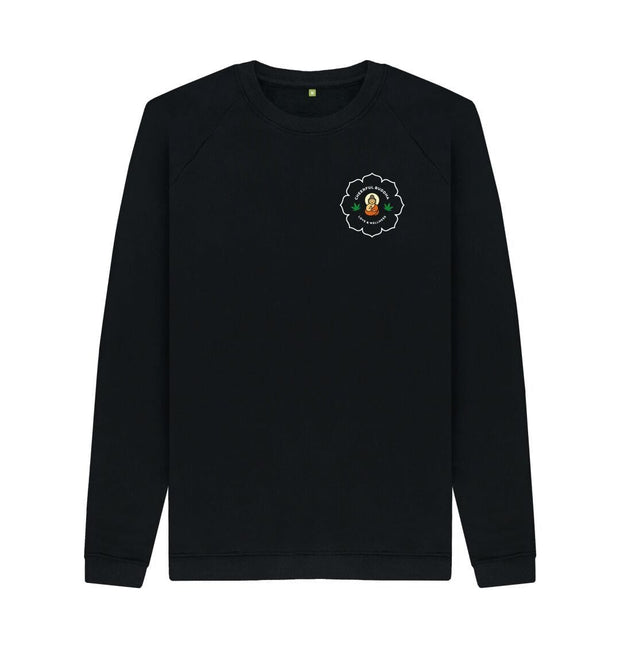 Black Cheerful Buddha Organic cotton sweat - Black logo