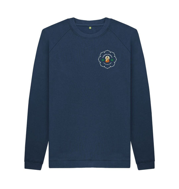 Navy Blue Cheerful Buddha Organic cotton sweat - Black logo