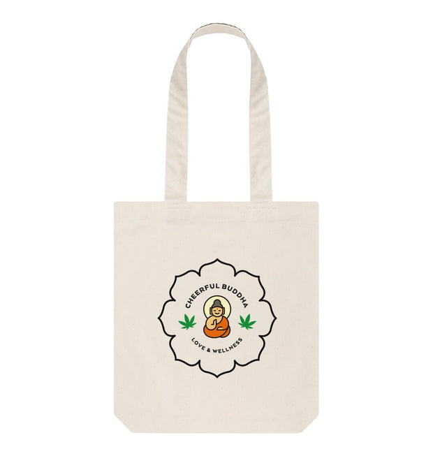 Natural Cheerful Buddha Organic Cotton Tote Bag - Natural