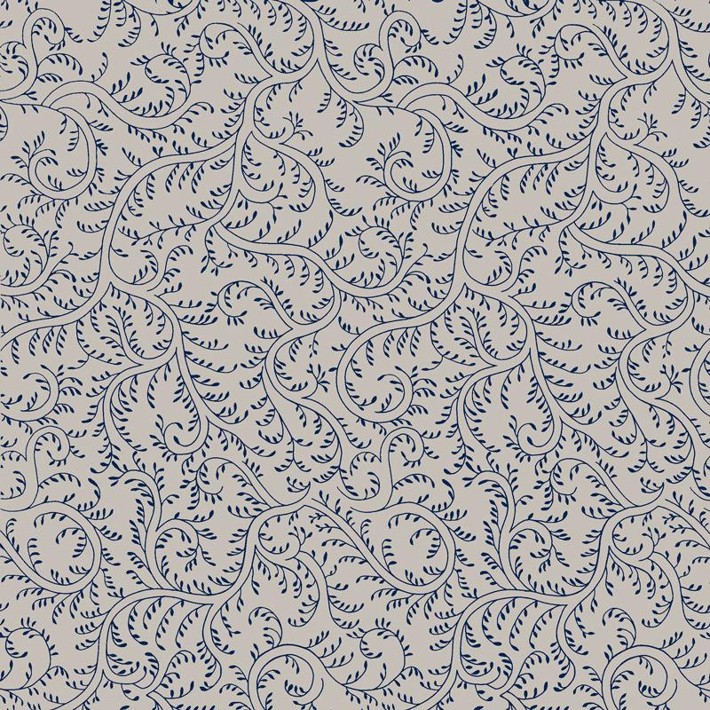 Plumbago Wallpaper - Sister Parish