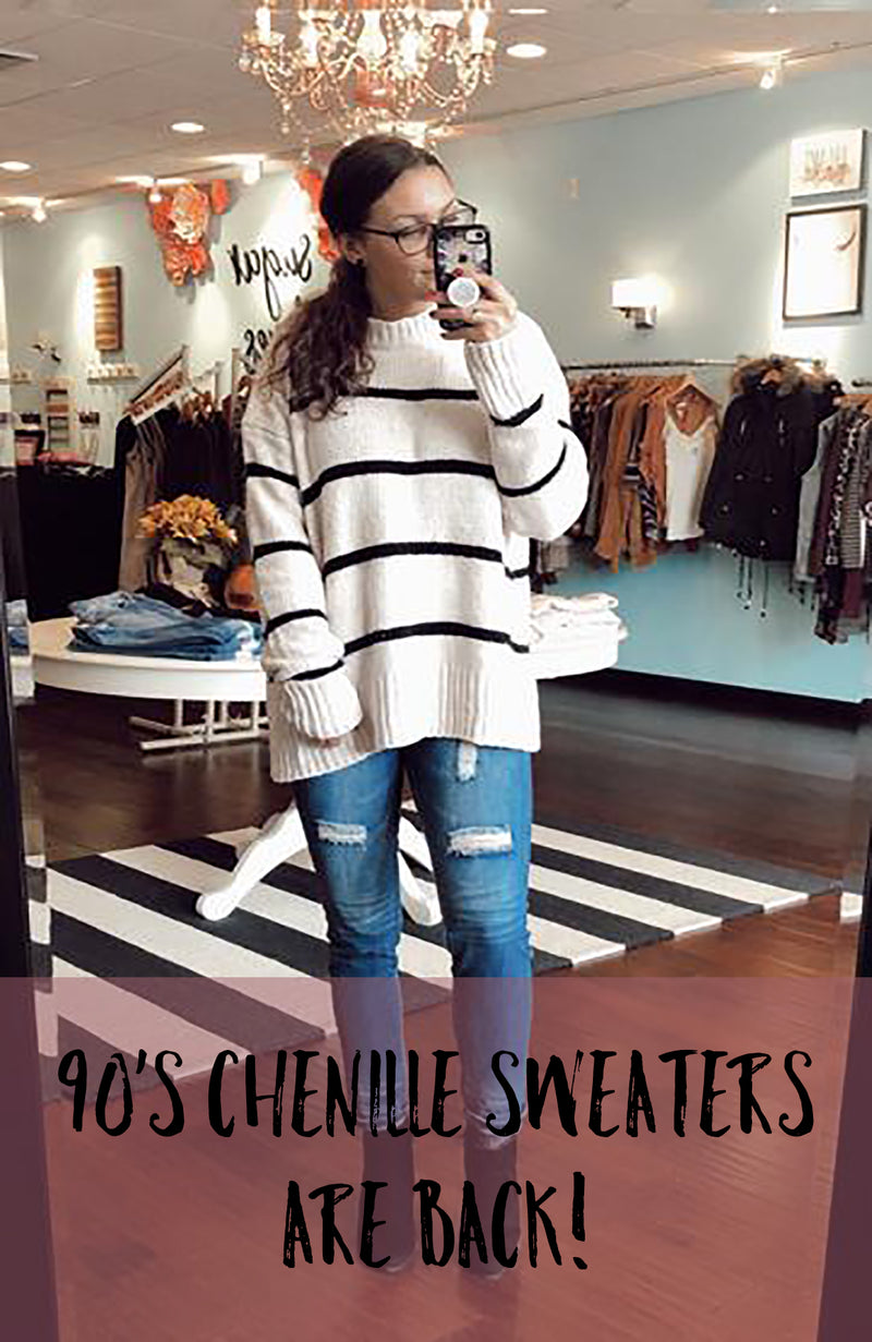90's Chenille Sweaters are BACK!