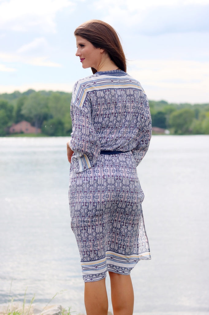 Blue Print Duster Cardigan