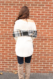 Ivory V Cut Drop shoulder Sweater