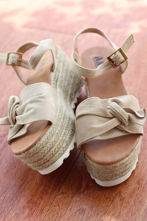 Nude Block Wedge