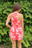Red Tropical Romper