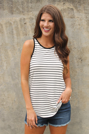 White Stripe Swing Tank
