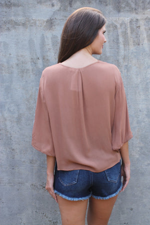 Ginger Tie front Blouse