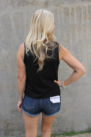 Black Front Knot Tank