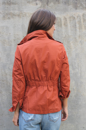 Rust Zip Up Jacket