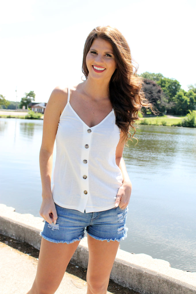 Cream Button Up Cami