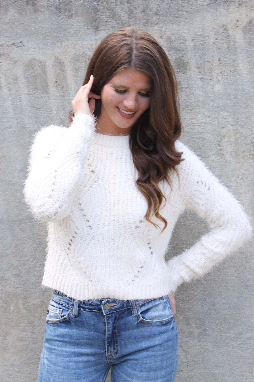 Ivory Soft Knit Sweater