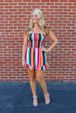 Multi Stripe Tube Romper