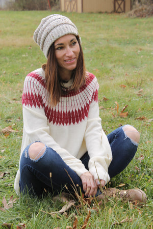 Ivory Fair Isle Sweater