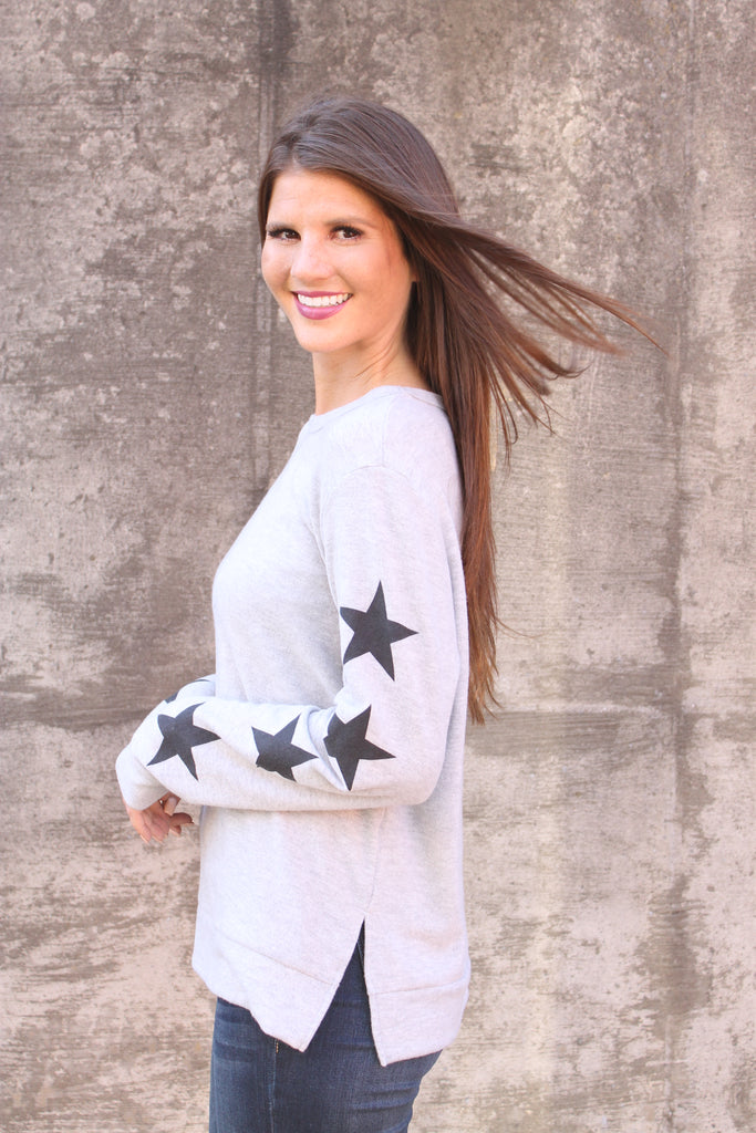 Grey Super Soft Star Sweatshirt