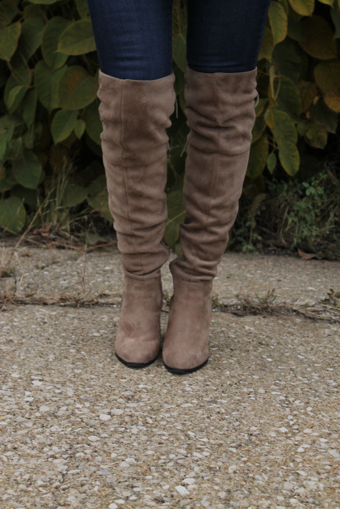 Taupe Over Knee Boot