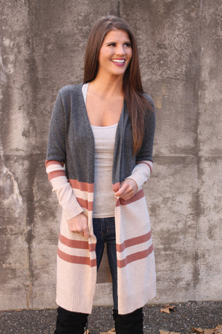 Sage ColorBlock Stripe Top