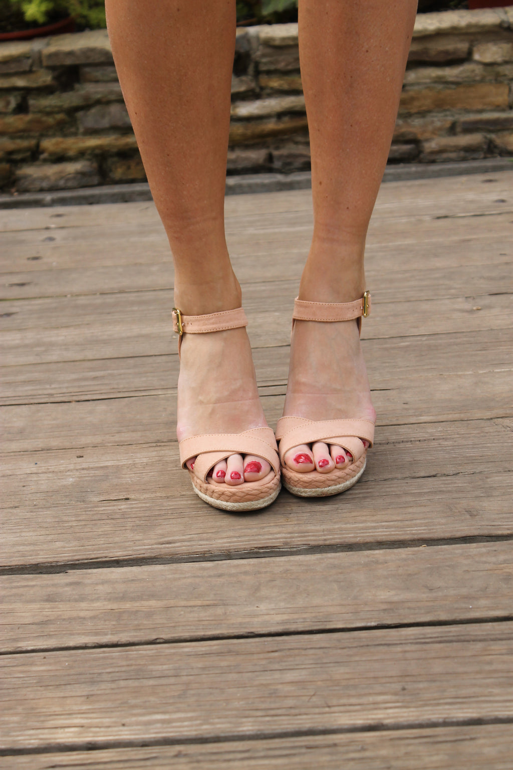 Tan Suede Wedge