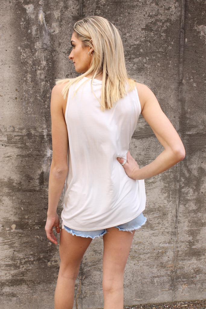 White Lake Girl Sleeveless Top