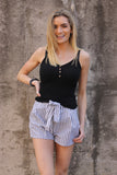 Black Button Cami