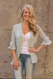 Sage Bow Sleeve Cardigan