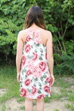 Ivory Floral Halter shift Dress